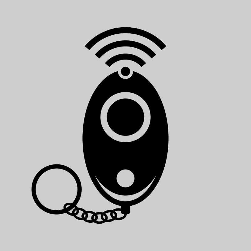 Schrillalarm-Durch Ziehen des Sicherheitsstifts wird der Personenalarm aktiviert